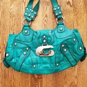 Guess Handbag Green Teal Fancy